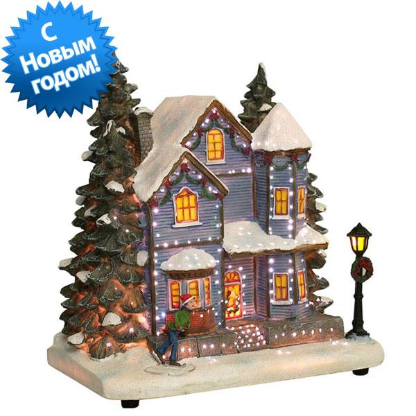 Новогодний домик,светильник 20-061