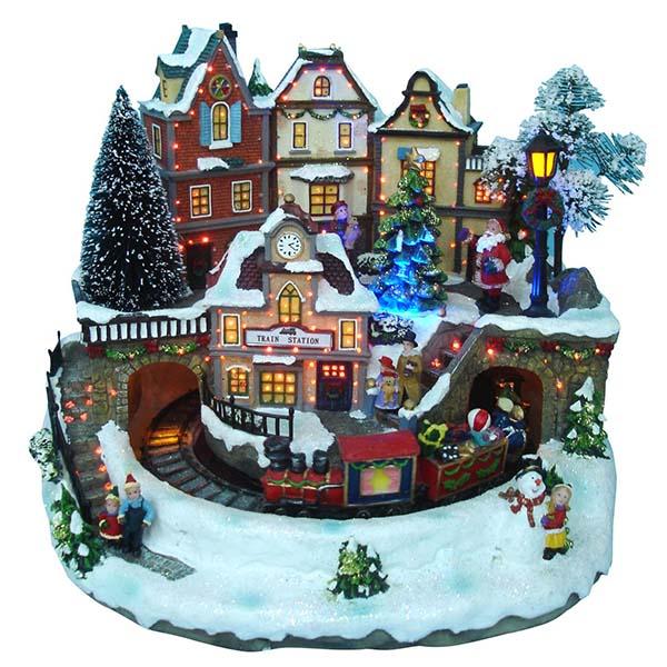 Светильник новогодний домик 20-125