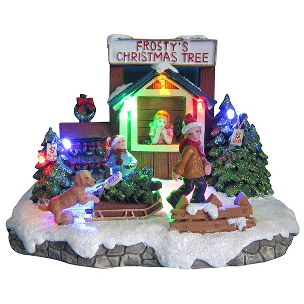 Новогодний домик - светильник 20562