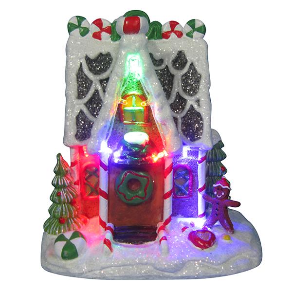 Новогодний домик,светильник 20689