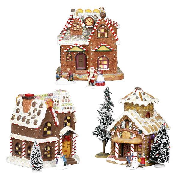 Новогодний домик набор 3 штуки 21-319