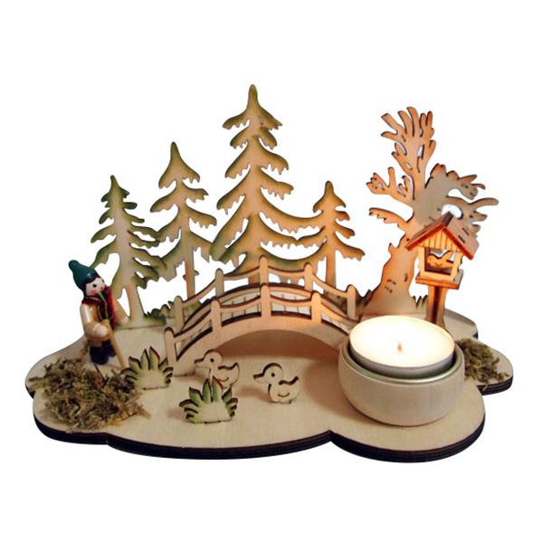 Новогодний сувенир из дерева 17407