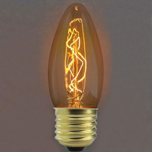Лампа модель С35 Е27 арт.3540-E