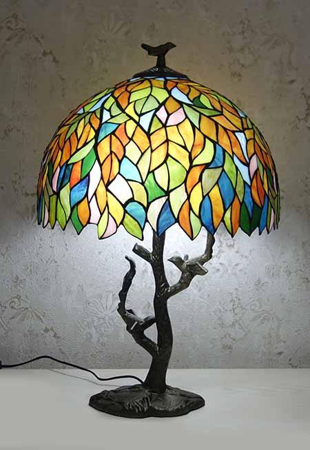 Настольная лампа Tiffany RCN 100 (Листва)