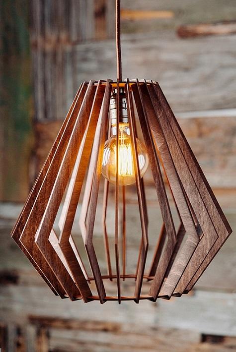 Светильник из дерева K 003