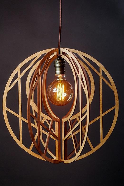 Светильник из дерева L 004