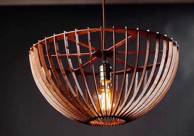 Светильник из дерева ML 002
