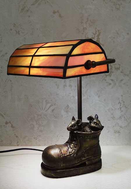 Настольная лампа Башмак с мышками BL 34