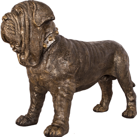 Скульптура садовая собака 3