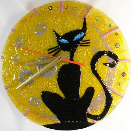 Часы настенные - Лунный кот