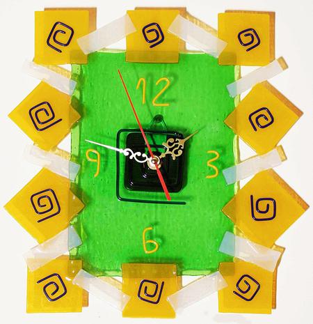 Часы настенные - Квадраты 4