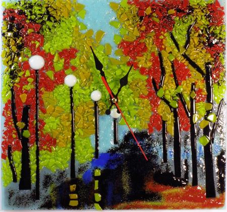 Часы настенные - Осень