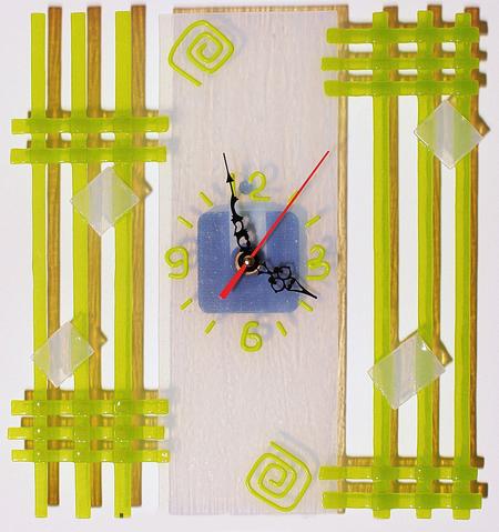 Часы стекло - Геометрическая абстракция 2