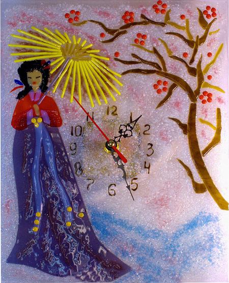 Часы декоративные - Гейша