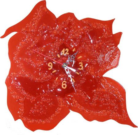 Часы настенные - Роза