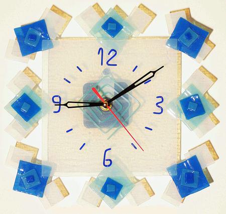 Часы настенные - Квадраты 5