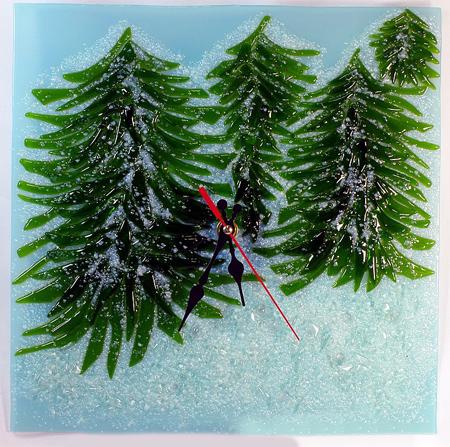 Часы настенные - Зимний лес