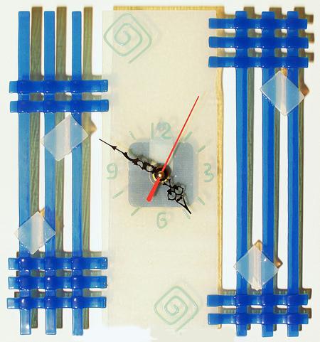Часы настенные - Геометрическая абстракция 6