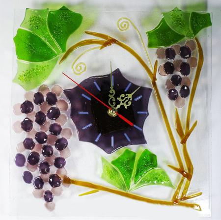 Часы настенные - Виноград