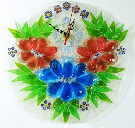 Часы настенные - Цветочная корзинка