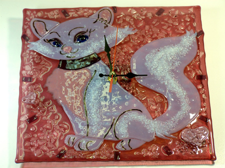 Часы в детскую - Кошечка