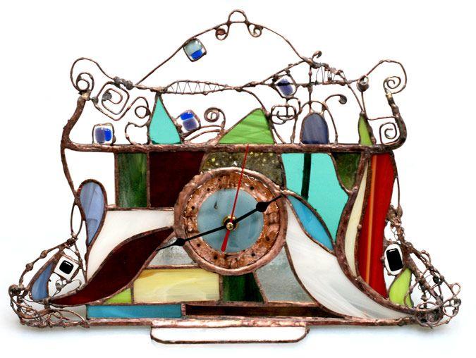 Часы витражнык - Сказочные к02